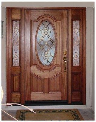 puertas en madera  vidrio puerta de entrada puertas