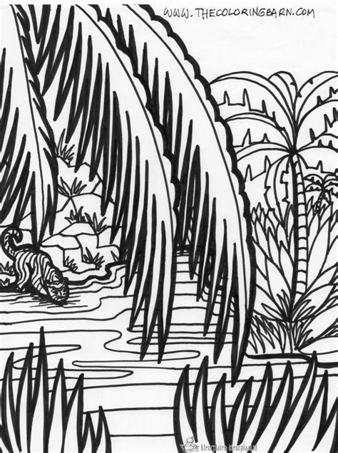 jungle landscape coloring pages free coloring pages of b jungle