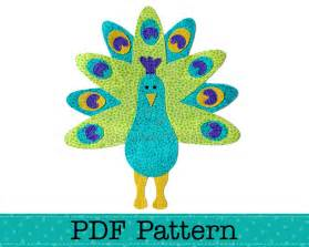 Peacock Template by Peacock Applique Template Diy Pdf Pattern By Lea
