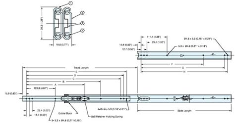Esr 7 24 Stainless Steel Drawer Slide Alema Hardware