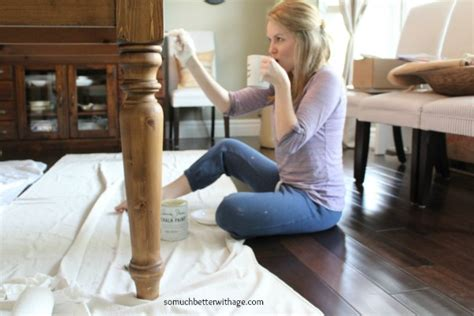 Paint Table by Dining Room Table Makeover So Much Better With Age