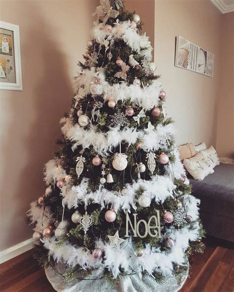 feather boa christmas tree pretty  pink christmas tree feathers christmas tree