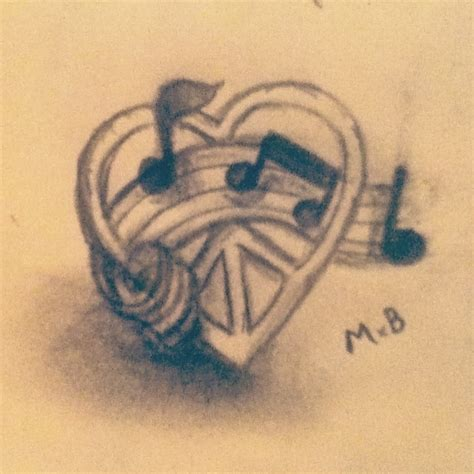 love music tattoo designs drawings www imgkid the image