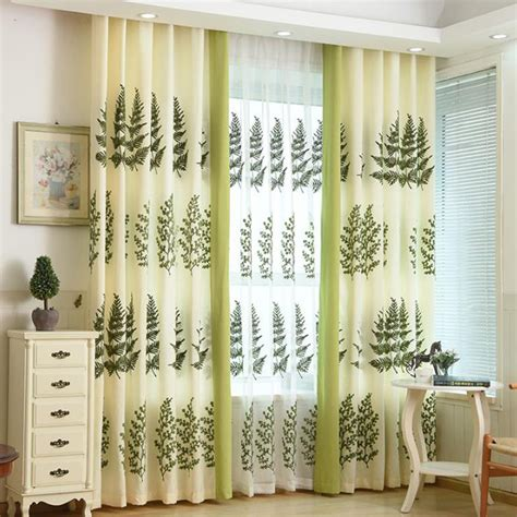 beige and green curtains beige and lime green natural embroidered curtains