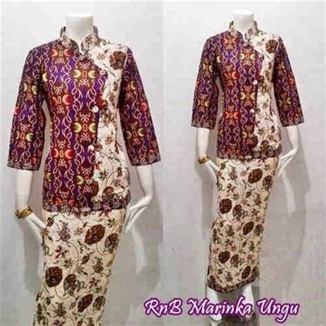 Srg632 Batik Rok Blus model baju batik in sarimbit dress batik bagoes kode