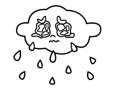 imagenes de niños llorando para colorear dibujo de nube llorando para colorear dibujos net