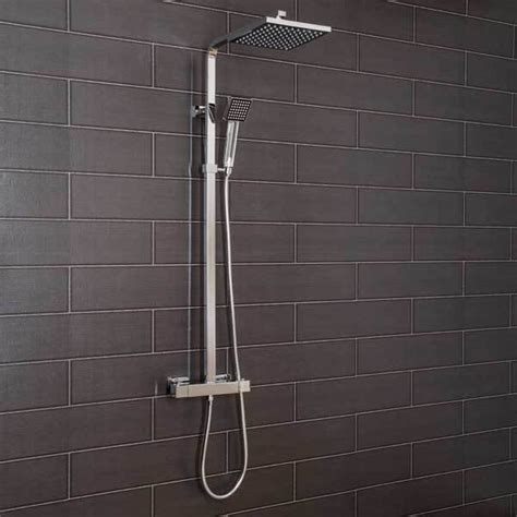Square Shower by Square Thermostatic Shower System Uk Bathroom Solutions
