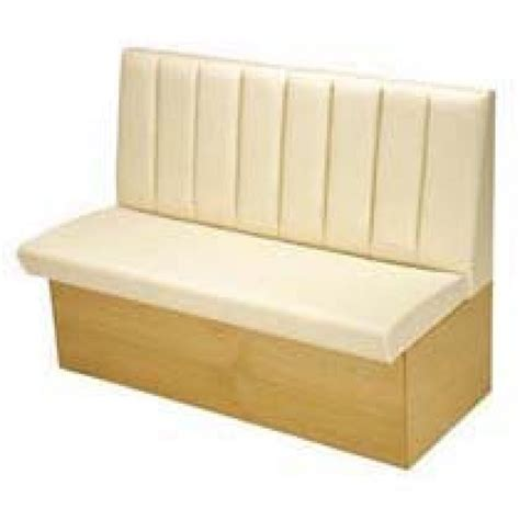 fluted low back bench seating upholstery