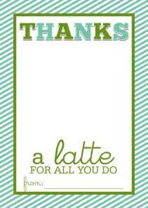 Thanks a latte on pinterest
