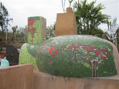 pizza oven covered  handmade mosaic tile handmade