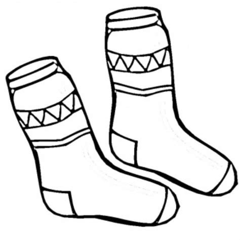 socks winter clothes coloring page sock crafts