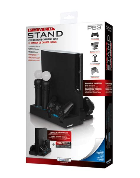 power stand charger for ps3 dreamgear power stand for ps3 slim wasabielectronics