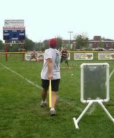 backyard home run derby game for better stability put sand in the base pvc piping the