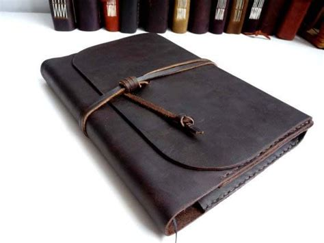 refillable leather journals handmade refillable waxed leather journal a5 free initialling
