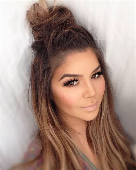 cute easy hairstyles for selfies cute half bun styles for teen girls that makes you looks