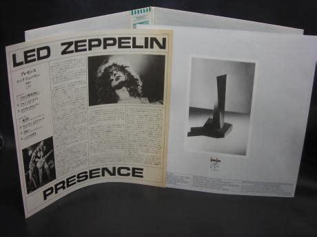 backwood records led zeppelin presence japan lp obi insert used japanese press vinyl records