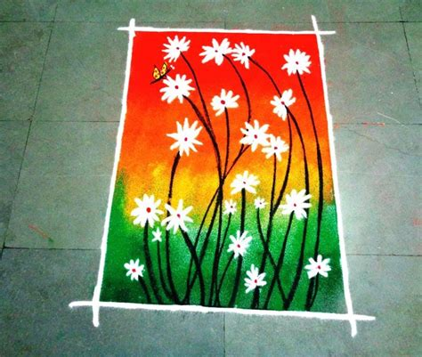poster design rangoli how to make beautiful flowers poster rangoli design youtube