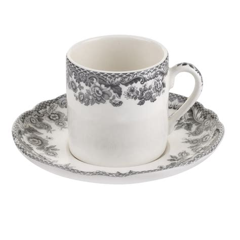 Coffee Cup With Saucer spode delamere rural coffee cup and saucer set of 4 spode uk
