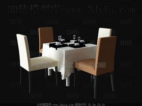table l 3d model free square table and chairs 3d model free 3d models