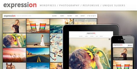 expression theme shopify expression photography responsive wordpress theme by