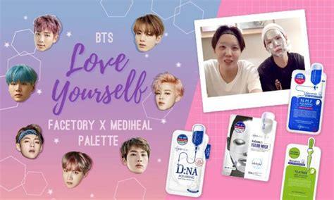 bts x mediheal bts is everywhere and even on skincare masks empty
