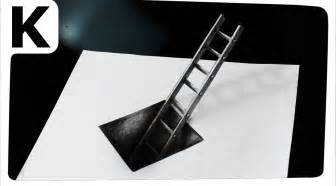 How To Make Illusions On Paper - how to draw 3d optical illusion with ladder