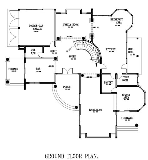 in ground home plans ghana house plans ghana home designs ground floor
