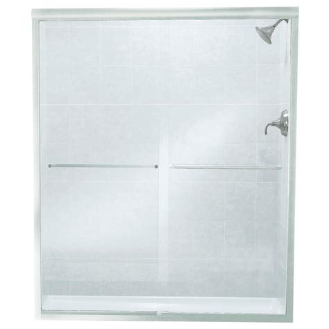 Aquatic Shower Doors Sterling Finesse 57 In X 70 5 16 In Semi Frameless