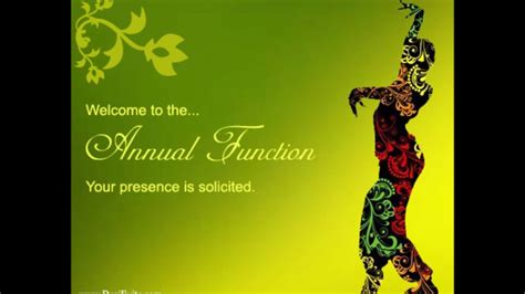 annual function invitation card template annual function invitation e card 2017