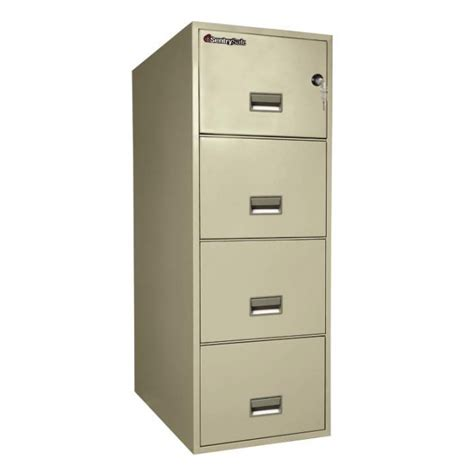 sentry 4g3131 4 drawer file cabinet with water