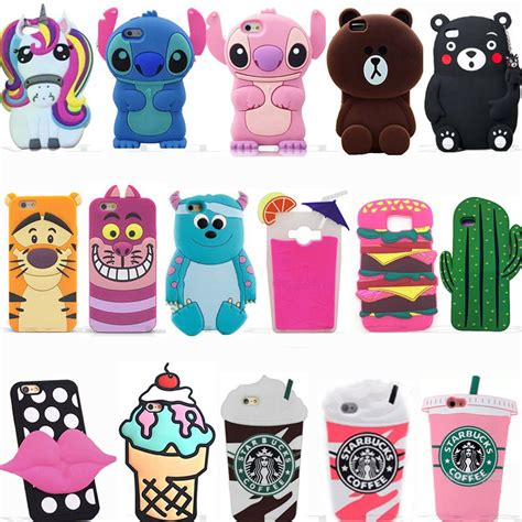 Casing Xiaomi Mi4s Animated 3d Character Soft 3d animals soft silicone cover back for samsung various phones ebay
