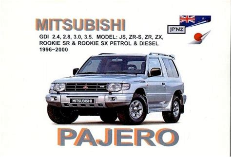 car repair manuals online pdf 2000 mitsubishi pajero spare parts catalogs handbook pajero gdi v6 free download
