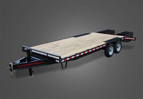 flat bed trailer flat bed trailers pj trailers 20 flatbed equipment