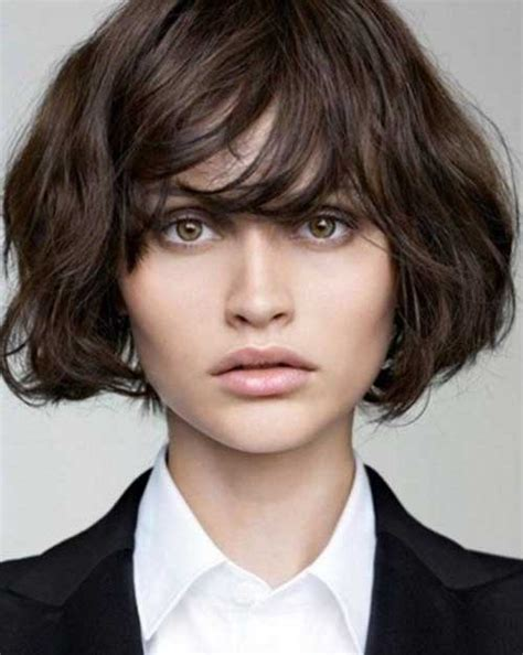 hairstyles with bangs for thick hair layered bob with bangs for thick hair the best short