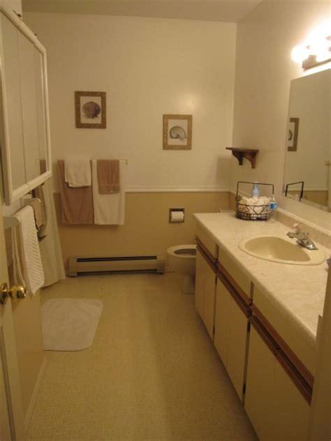 chair railing in bathroom s bathroom before during killam