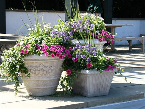 Easy Flower Pot Ideas For Garden Home Designs Lovely Patio Garden Planters