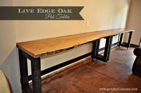 diy  edge oak pub tables pub table grey table table