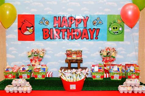 Angry Birds Decoration Ideas Kara S Ideas Angry Birds Boy Birthday