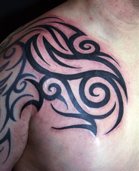 half chest tribal tattoo tribal images designs