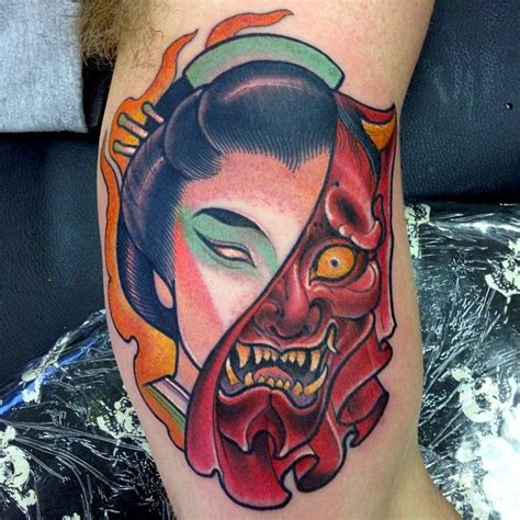 geisha hannya tattoo dusty neal featured artist dusty