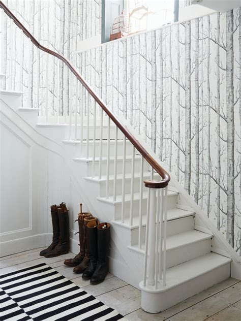 Outdoor Banister Railing Hallway Wallpaper Ideas Scandinavian Staircase