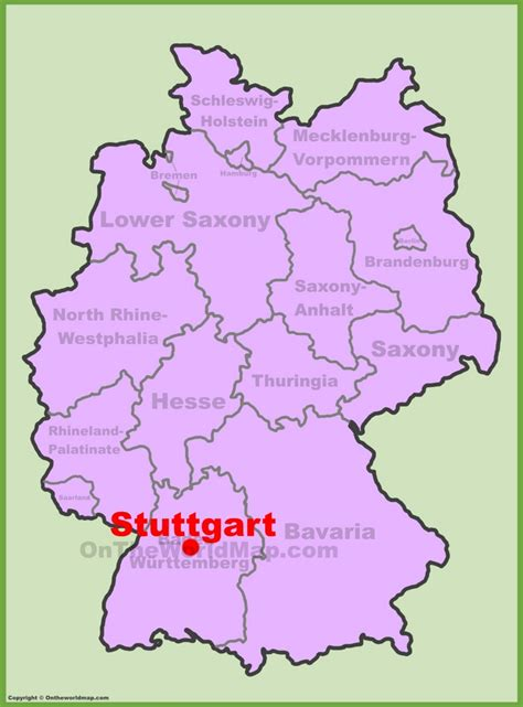 Stuttgart Location On The Germany Map