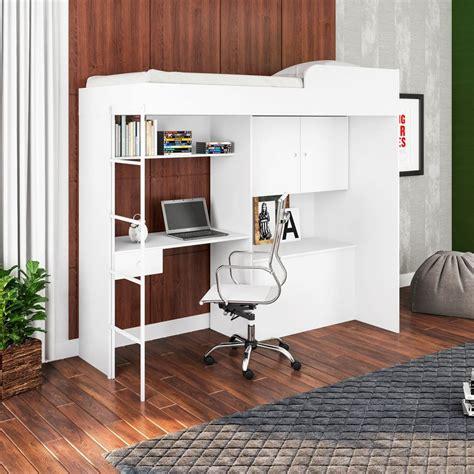 cama alta cama alta multifuncional escrivaninha escada cm9080