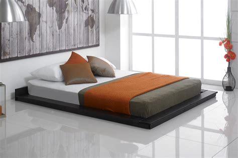 Kyoto Oriental Wooden Floating Bed Frame   Bedworld at