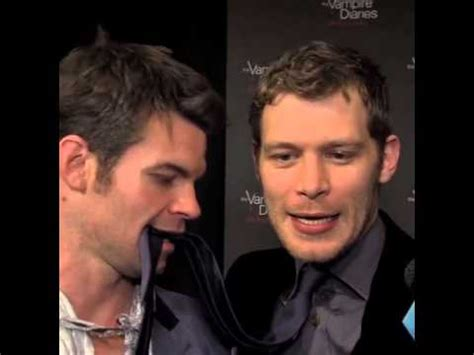 daniel gillies and joseph morgan tvd100 party youtube
