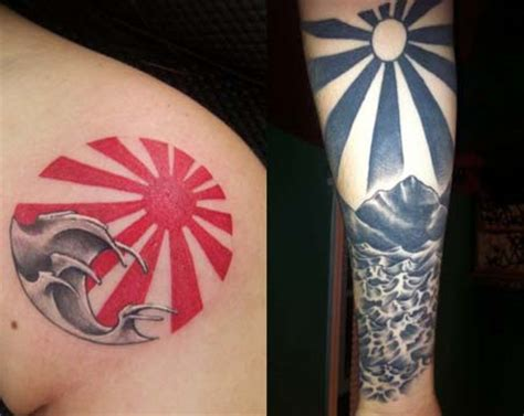 japanese sunrise tattoo designs rising sun tattoos ideas designs and meaning