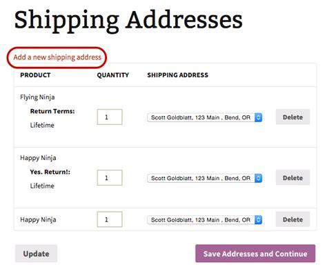 Addresses Address Shipping Addresses Woocommerce Docs