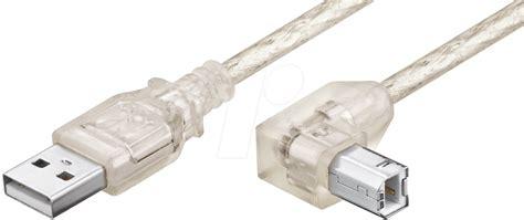 kabel serabut transparan 1 roll ak usb ab agw 1t usb 2 0 a stb st abgewinkelt 1m