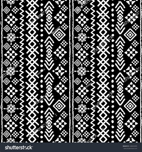tribal pattern texture tribal art boho seamless pattern ethnic stock illustration