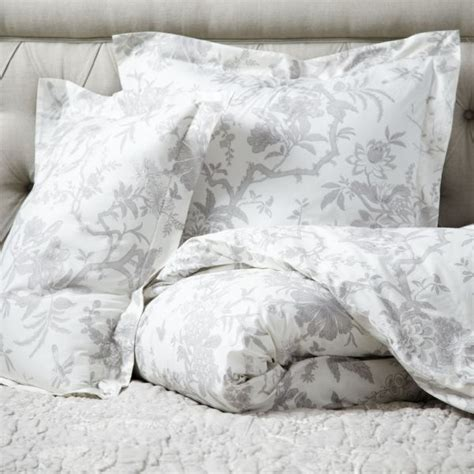 Ballard Design Bedding jardin toile duvet cover gray master bedroom bathroom